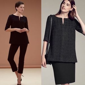 MM. LAFLUER The Mitford Top in Onyx Tweed.